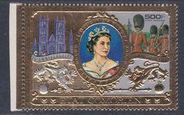 Comores P.A.  N° 127 X 25è Anni. De L'accession Au Trône De Sa Majesté Elisabeth II Sur Or, Trace De Charnière Sinon TB - Comores (1975-...)