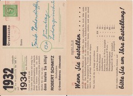 All Bes Ziffer Ganzsache P 950 ZF Priv Zudruck Frankfurt Main 1947 - Zone AAS