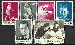 BELGIQUE     -  1963.   Y&T N° 1262 à 1266 + 1268 *.  Croix-Rouge. - Ongebruikt