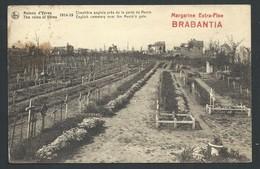 +++ CPA - Guerre - Ruines D'YPRES - IEPER - Cimetière Anglais Près De La Porte De Menin - Publicité Brabantia    // - Ieper