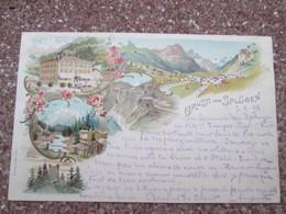 Gruss Aus Splugen 1896  Rare - GR Grisons