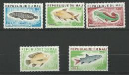 "Mali YT 258 à 262 "" Poissons "" 1976 Neuf** - Mali (1959-...)"