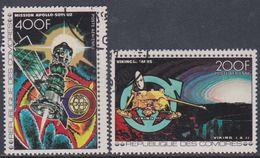 Comores P.A.  N° 134 / 35  X Vols Dans Le Cosmos, Les 2 Valeurs Trace De Charnière Sinon TB - Comores (1975-...)