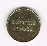 &  AUTOMATEN  TOKEN  EUROCOIN  LONDON - Professionnels/De Société