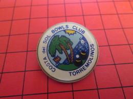 1518c PAs Pin's Mais BROCHE / THEME SPORTS : COSTA DEL SOL BOWLS CLUB TORREMOLINOS - Bowling