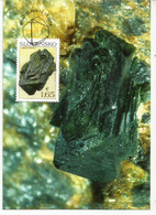 La Libéthénite De Ľubietová, Année 2018. Belle Carte-maximum - Minerals
