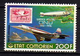Comores P.A.  N° 136  X Ouverture De La Ligne Paris- New York En Concorde, Trace De Charnière Sinon TB - Comores (1975-...)