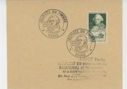 PARIS - Enveloppe Avec Cachets De La JOURNÉE NATIONALE DU TIMBRE 1949 (portrait De CHOISEUL ) - Timbres (représentations)