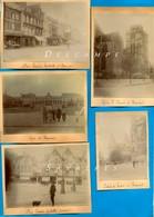 Oise 1901 * Beauvais, Place Jeanne Hachette, Lycée, église St Etienne, Palais De Justice * 5 Photos - Voir Scans - Places