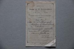 Externat Dames Du St-Enfant-Jésus Dites De Saint-Maur à Toulon (Var), 1er Prix, 1901 - Diplômes & Bulletins Scolaires