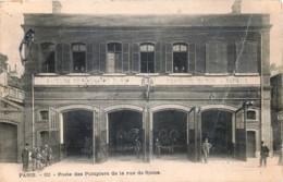 France - 75 - Paris XVIIe Arr - Poste Des Pompiers De La Rue De Rome - Un Pli - Arrondissement: 17