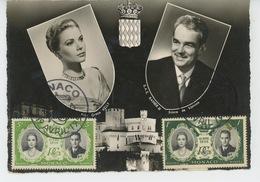MONACO - Portrait De Grace KELLY Et S.A.S. RAINIER III Avec Timbres à Leur Effigie - Monte-Carlo