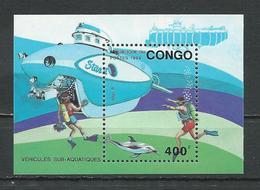 CONGO Scott 1026 Michel B112 (bloc) ** Cote 9,00 $ 1993 - Congo - Brazzaville