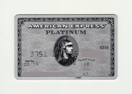 Russian Standart Bank RUSSIA Platinum American Express Expired - Cartes De Crédit (expiration Min. 10 Ans)