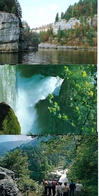 Villers Le Lac (25). Lot De 3 Cpm Bassins Et Saut Du Doubs. 1 écrite. Envoi France 0,86 €. - France