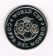 &  JETON  WORLD CUP COPPA DEL MONDO 1990 BRASIL - Jetons & Médailles