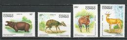 CONGO Scott 1063-1066 Yvert 994-997 (4) ** Cote 7,50 $ 1994 - Congo - Brazzaville