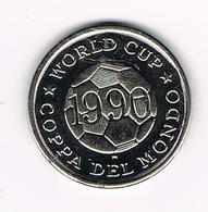 &  JETON  WORLD CUP COPPA DEL MONDO 1990 SCOTLAND - Jetons & Médailles