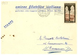 PALERMO  UNIONE FILATELICA SICILIANA - Palermo