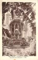 CPA Algérie Oran Fontaine Et Palmiers Bananiers De La Mosquée 1935 - Oran