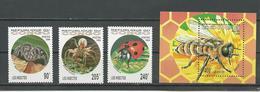 CONGO Scott 1075-1077 1078 Yvert 991-993 BF61 (3+bloc) ** Cote 16,20 $ 1994 - Congo - Brazzaville