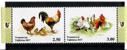 Tajikistan.2017 Year Of The Rooster. Pair Of 2v: 2.50, 3.00 Michel # 753-54A - Tadjikistan