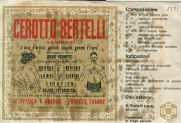 """""""CEROTTO BERTELLI"""" CONFEZIONE  INTEGRA ORIGINALE, - Altre Collezioni"""