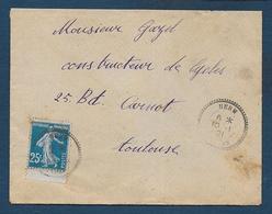 Landes - Cachet  Pointillé  HERM - Marcophilie (Lettres)