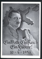 AK/CP Hitler Wien  Österreich   Propaganda  Nazi  Ungel/uncirc. 1938    Erhaltung/Cond. 2-  Nr. 00574 - Guerre 1939-45