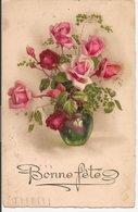 L15H018 - Bonne Fête - Joli Bouquet De Roses Dans Un Vase - Other