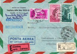 Raccomandata Espresso Per Berna ( Svizzera ) ( 216 ) - 6. 1946-.. Repubblica