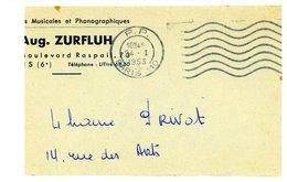 P. P. PARIS 110 1953 Oblit. Flier 7 Lo Port Payé - Fragment - - Poststempel (Briefe)
