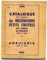 France Catalogue Oblitérations Petits Chiffres Sur Timbres  Mathieu  1958 - Oblitérations