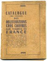 France Catalogue Oblitérations Gros Chiffres Sur Timbres  Mathieu  1960 - Oblitérations