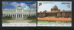 Singapore 2015 President Houses Joints Issue With India Architecture 2v MNH # 111 - Joint Issues