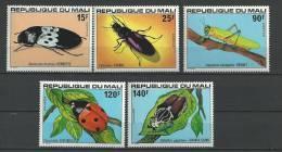 """Mali YT 311 à 315 """" Insectes """" 1978 Neuf** - Mali (1959-...)"""