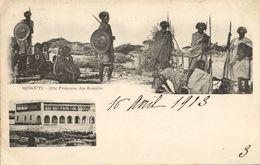 Djibouti, French Coast Of Somalis, Native Warriors (1903) Postcard - Djibouti
