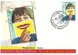 """Poste Italiane, Giornata Della Filatelia """"la Filatelia Nella Scuola"""" 2004 - Poste & Facteurs"""