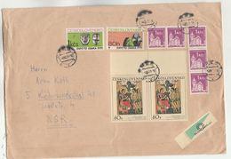 1970 CZECHOSLOVAKIA COVER Multi OSAKA EXPO , CASTLE,  ART RELIGION Stamps - Czechoslovakia
