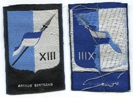 X110G PATCH ECUSSON TISSUS XIII EME BRIGADE MECANISEE 1960.65 ABC CAVALERIE ARTHUS BERTRAND - Ecussons Tissu
