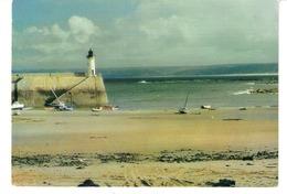 Presqu'île De La Hague-Dielette (Les-Pieux-Flamanville-Manche)-1981-le Port-Le Phare De La Grande Jetée à Marée Basse - Cherbourg