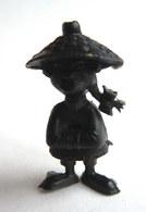 TRES RARE FIGURINE LUCKY LUKE - PIRATE RES PLASTIC - CHINOIS NOIR Pas DUNKIN - Figurines