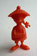 TRES RARE FIGURINE LUCKY LUKE - PIRATE RES PLASTIC - CHINOIS ROUGE Pas DUNKIN - Autres