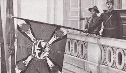 LE PREMIER DRAPEAU DU BATAILLON  DU REGIMENT D INFANTERIE BAVAROISE  BEAU PLAN MILITAIRES ACHAT IMMEDIAT - Guerre 1914-18