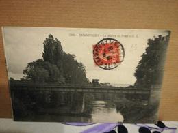 CPA Champigny La Marne Au Pont Animé écrite Circuler 1906 - Champigny Sur Marne