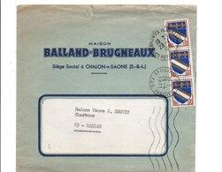 AFFRANCHISSEMENT COMPOSE SUR LETTRE A EN TETE 1971 - Marcophilie (Lettres)