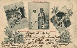 German East Africa, Wandorobo, Suaheli And Wagogo Natives (1905) Postcard - Tanzania
