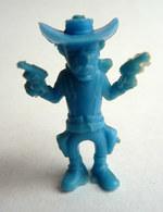 TRES RARE FIGURINE LUCKY LUKE - PIRATE RES PLASTIC - JACK DALTON BLEU Pas DUNKIN - Figurines