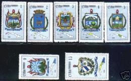CUBA/KUBA 1966  ESCUDOS NACIONAL Y DE LAS PROVINCIAS MNH - Kuba
