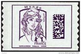 France Marianne De Ciappa Et Kawena Autoadhésif N° 1217 ** Datamatrix Monde Sans Indication De Poids Seconde Génération - 2013-... Marianne De Ciappa-Kawena